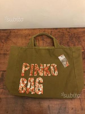 Borsa pinko bag originale con ricami paillettes