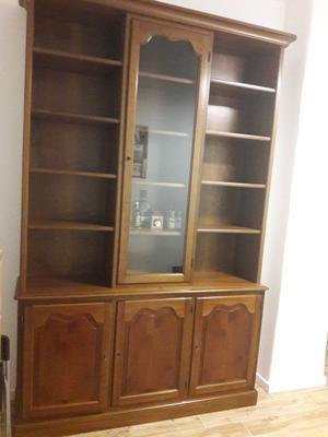 Credenza libreria con vetrina in legno shabby chic