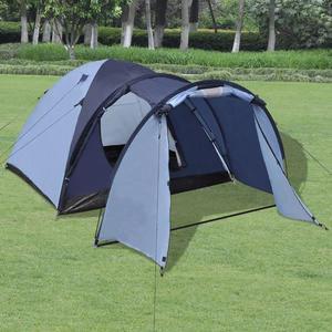 vidaXL Tenda per 4 Persone Blu