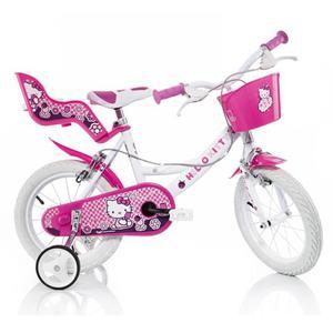 Bicicletta Hello Kitty Per Bambina 14Â? 2 Freni 144r-hk
