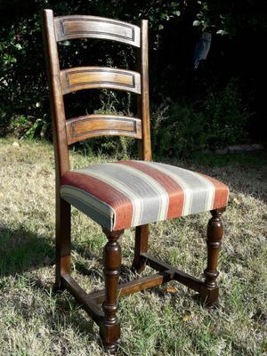 sedie legno massello noce (n. 4)