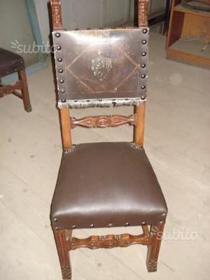 Poltrone Vecchie In Pelle.Sedie Antiche Restaurate Posot Class