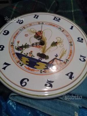 Orologio ceramica Faenza