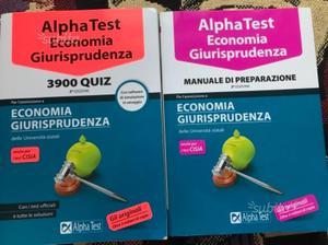 Libri Alpha Test economia e giurisprudenza