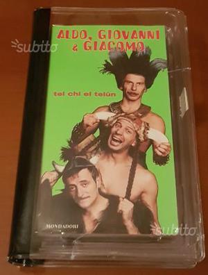 Tel Chi El Telun Aldo Giovanni e Giacomo VHS-LIBRO