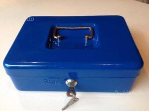 Cassetta portavalori STARK come nuova color blu