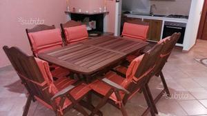 Set da Giardino Tavolo e 6 Sedie