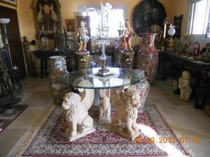 Acquaio in pietra scolpito a mano posot class - Tavolo con base in pietra ...