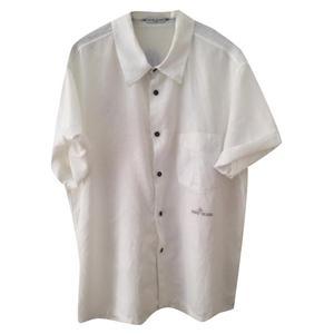 camicia bianca in lino manica corta
