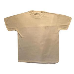 t shirt bianca logo ricamato tone sur tone
