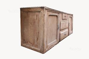 Credenza Rustica Vintage : Mobile buffet credenza sideboard legno vintage posot class