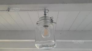 Lampada barattolo bormioli: come costruire un lampadario usando