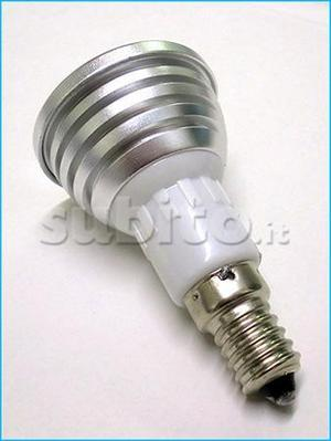 Lampada LED E14 RGB 3W 220V Con Telecomando