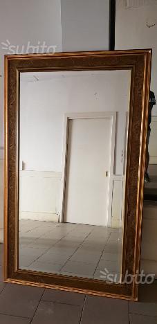Specchio molato con cornice dorata posot class - Specchio con cornice dorata ...