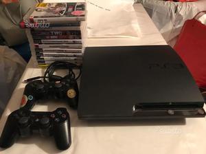 Console PS3 Slim + 2 Joystick + 5 giochi