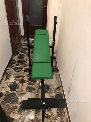 Panca per pesi e esercizi vari