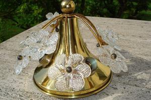 Plafoniera Ottone Antica : Applique antica singola luci ottone dorato posot class