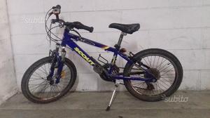 """Bici MTB bambino 20"""" blu cambio 18 velocità"""