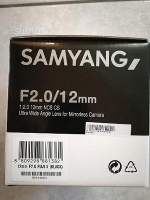 Samyang 12mm f2.0 ncs cs per fuji x