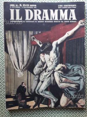 """""""IL DRAMMA Rivista quindicinale di commedie"""