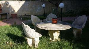 Tavoli Da Giardino In Cemento.Tavolo In Cemento Con Sedie Da Giardino Posot Class