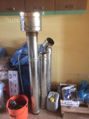 Tubi acciao inox 140 per stufa o caminetto