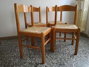 6 sedie impagliate per cucina o soggiorno | Posot Class