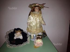 Bambole in porcellana. nuove