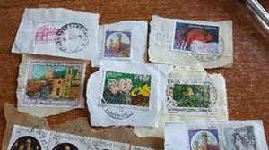 Gruppo di francobolli nuovi e viaggiati
