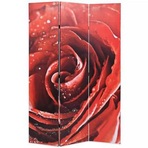 vidaXL Paravento Pieghevole 120x180 cm Stampa Rosa