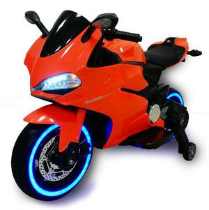 Moto Elettrica Per Bambini 12v Babyfun Strada Arancione