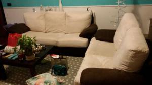 2 divani in tessuto alcantara