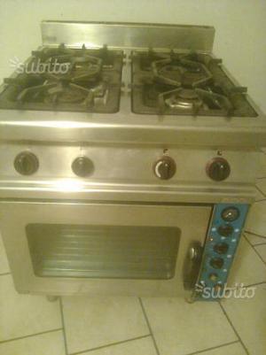 Cucina gas per restorante 4 fuochi su forno gas