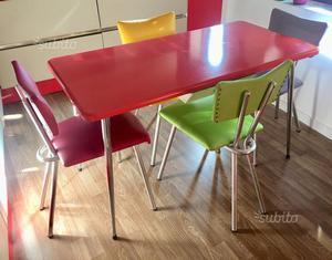 Tavolo in formica Anni60 Sedie Anni50 Modernariato