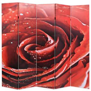 vidaXL Paravento Pieghevole 200x180 cm Stampa Rosa