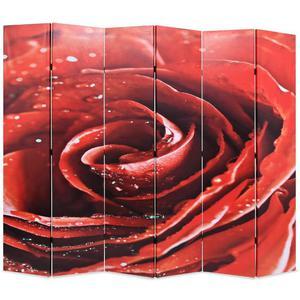vidaXL Paravento Pieghevole 228x180 cm Stampa Rosa