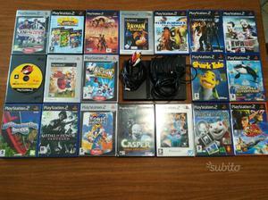 PlayStation 2 slim con accessori 19 giochi