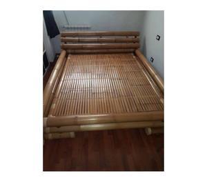 Letto matrimoniale in bambu' originale 300euro