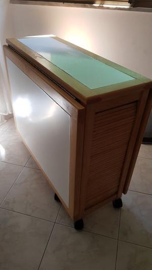 tavolo pieghevole con 4 sedie