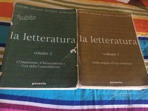 La letteratura volume 1 e 2