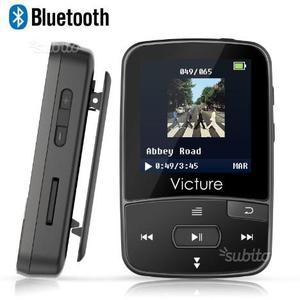 Lettore MP3 Bluetooth con Clip 8GB MP3 Player con