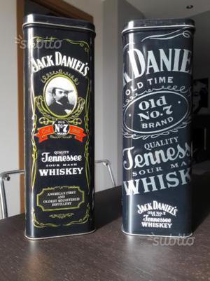 Jack Daniel's Tennesse whiskey 2 scatole metallo