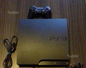Playstation 3 ps3 con joipad cavi e alimentatore