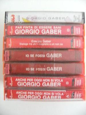 Lotto cassette Giorgio Gaber