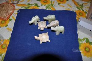 Animaletti elefante marmo onice vetrina bomboniera