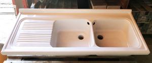 Lavello Cucina In Ceramica 120x50 Vasche Dx Versione Incasso
