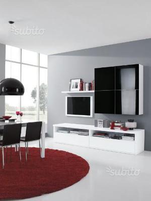 Mobile soggiorno nuovo bianco e nero