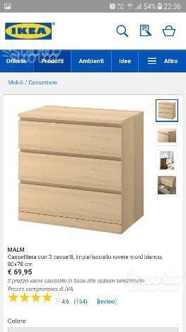 Malm Ikea Cassettiera 3 Cassetti.Mobiletto Malm Ikea Posot Class
