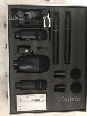 Kit completo microfoni batteria