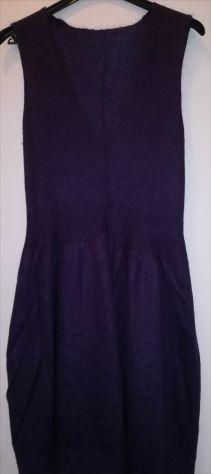 Vestito viola in maglia